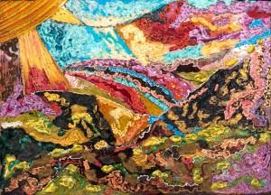 Обітованна земля, 2008, скло, фарби по склу, авт. техн.