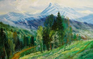 Hoverla Mountain, 2010, oil on canvas, 70x100