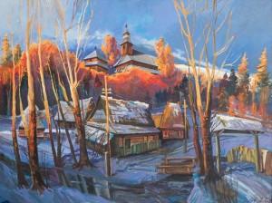 Шете М. Вечоріє (Різдвяна ніч), 2014, орг.о., 90х120