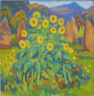 Sunflowers, 2005, oil on canvas, 95x75