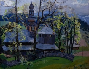 'Church In Huklyvyi Village', 1956, 100x80