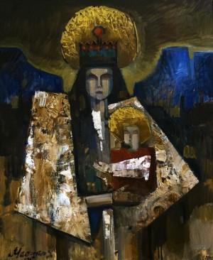 László Magyar Hutsul Madonna oil on canvas 60х50