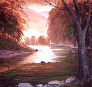 Осінь в Косівській Поляні, 2000, п.о., 70х80