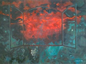 The Nights In Tokai, 1999, oil on cardboard, 60х80