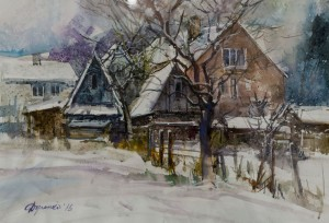 Ya. Dulenko, Winter day in Mizhgirya