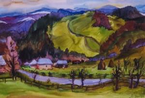 Село Жденієво, 2002, ват.акв., 41х59