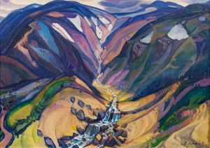 'Beginning Of The Great River', 1970, oil on canvas, 110x150