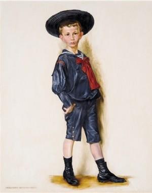 Маленький хлопчик, 1901, дерево,о., 61х49