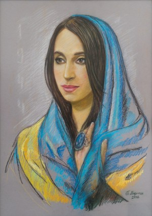 Susana from Crimea, 2016, pastel, tinted paper, 50x70