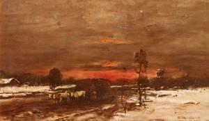 Зимовий захід сонця