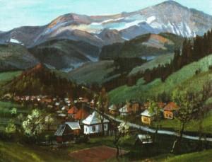 Село під горою Пікуй, 1987, 60х70