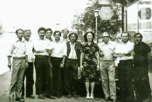 Creative association «Artist of Verkhovyna». Khust, 1979. Yu. Herts - the third from the right.