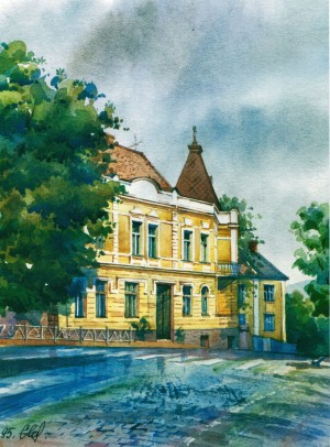 House in Pidhirna Street,1 1995 watercolour