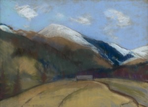 'Under The Diumber Mount', the 1930s, pastel on paper, 42,3х58,4.png