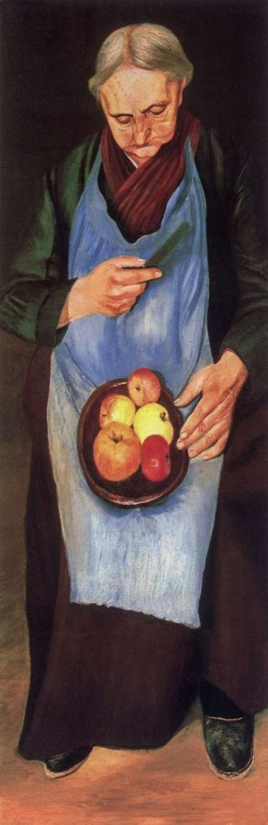 Old Woman Peeling Apples 1894