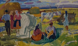 Meal in the field, 1961
