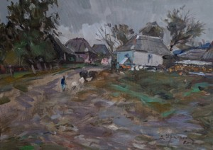 V. Krasokha. Stuzhytsia Village. 2017, oil on canvas, 50x70