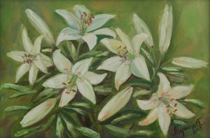 Lilies, 2012, oil on canvas, 40x60