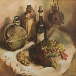 Still Life With Grapes, oil on canvas, 70х80
