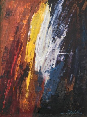 Coloured Rain, 2009, oil on masonite