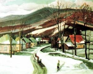 Село Порошково, 2004, 60х70