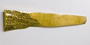 """Із серії """"Золото Карпат"""", 2012, дошка, акр.золота поталь, 17х200"""