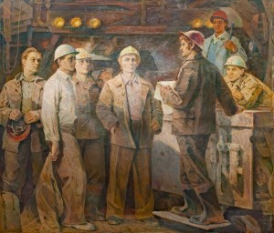 I. Vasylchenko 'Kharkiv Metro Builders', 1980, oil on canvas