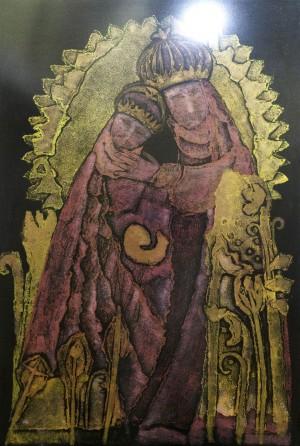 Erzsébet Mezei Theotokos colour printing, paper 57х38