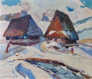 'Huts', 1977, 70x60