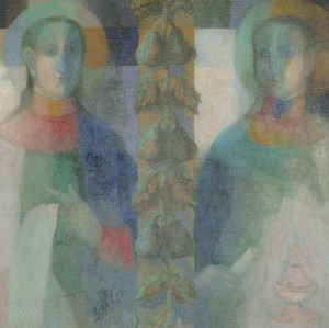 N. Ponomarenko. Saints from Krainykovo Village, 2007, oil on canvas