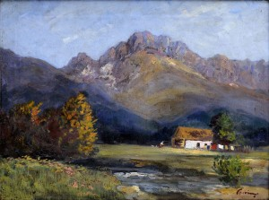 'Under The Tatras Mountains', the 1940s, oil on canvas, 59x81.jpg
