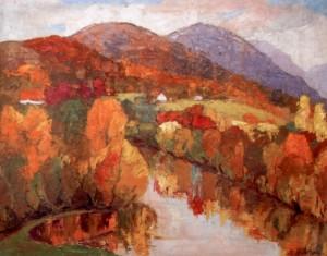 Осінь над Боржавою, 1985, к.о., 70х60