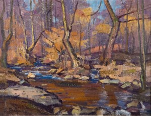 Forest Stream, 1974, oil on canvas, 70x90