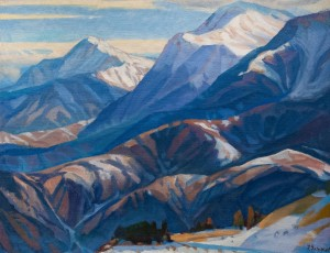 'Petros And Hoverla Mountains', 1990, oil on canvas, 100x126