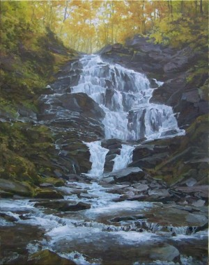 Waterfall Shypit, oil on canvas, 70x55