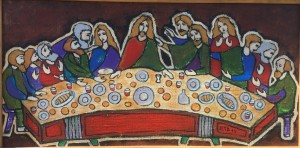 The Last Supper, 2016, acrylic on canvas, 20x40