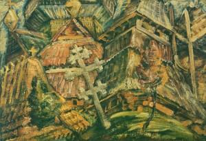 Манайло Ф. Із дерева та соломи,  1936 р., кар.о., 69х98