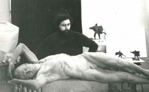 Курсова постановка, оголена лежача фігура, 1985