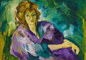 F. Seman, Portrait in violet. Liudmyla, 1991