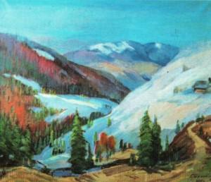 Синевирський перевал, 2002, 70х80
