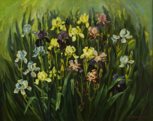 Irises, 2011, oil on canvas, 80x100