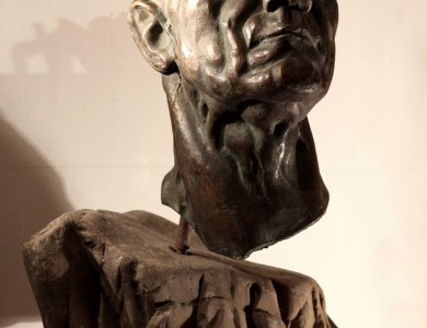 A Man with a high-raised head (Portrait of the artist P. Bedzir), 1986