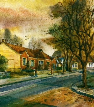 House in Sobranetska street,14 1996 watercolour
