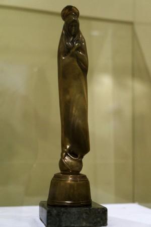 Miklós Melocco Theotokos bronze, stone 1970s 26х7х7