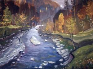 Осінь над потоком, 2000, п.о., 70х80