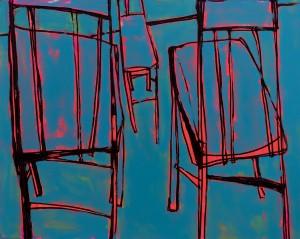 Chairs, 2017, п. о. акр., 120х150
