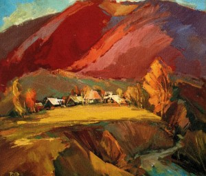 Autumn In Roztoka Village, 2011, oil on canvas, 70х70