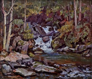 Forest Falls, 1973, oil on canvas, 80x90
