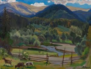 Пейзаж з козами, 1996, п.о., 70х90