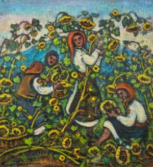 Збирають соняшники,1970-ті, п.о. 85х80